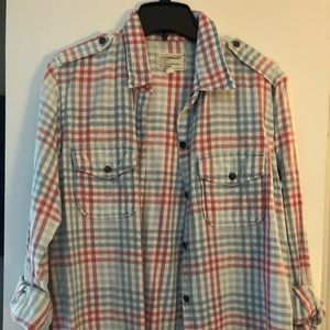 Current Elliot plaid button down